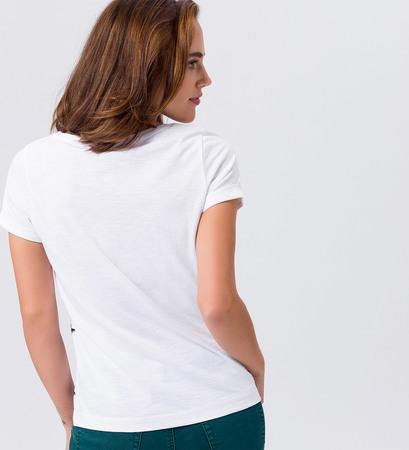T-Shirt mit Sternen in white