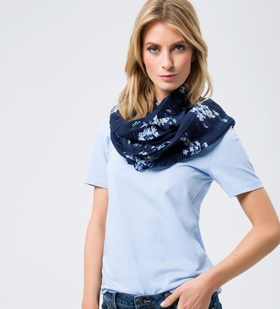 Tuch mit floralem Muster in blue black