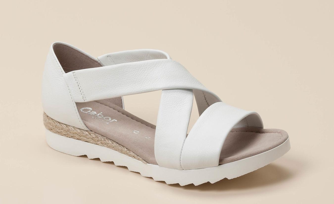 Sandalette Comfort Comfort Gabor Gabor Weiß NnZwkX08PO