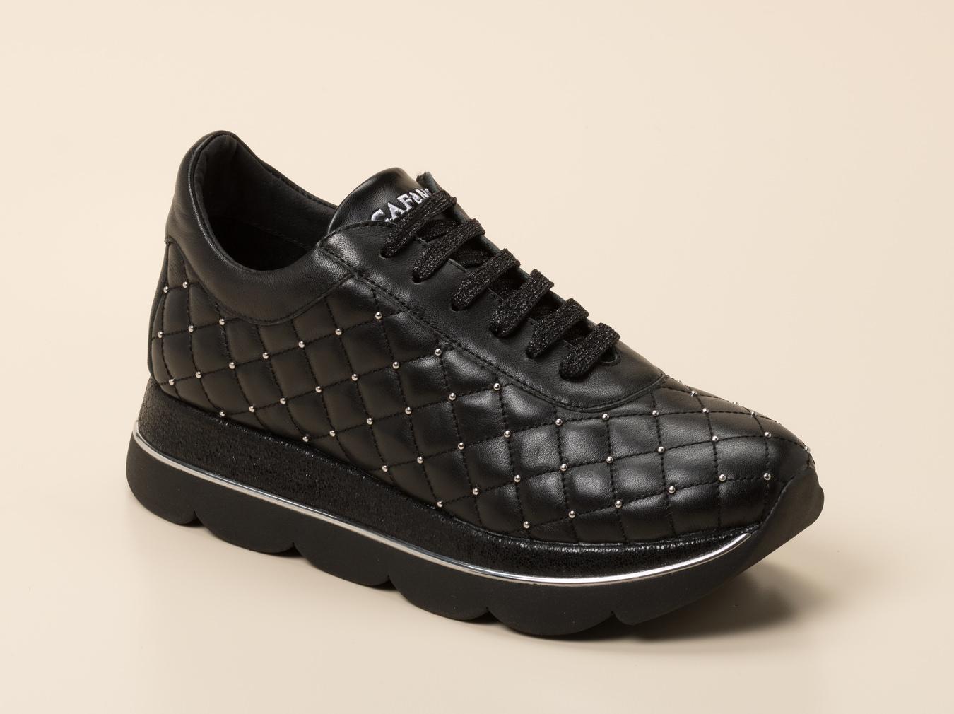 Online Cafènoir Femme Sneaker Shop KaufenZumnorde In Schwarz 3ALR54j