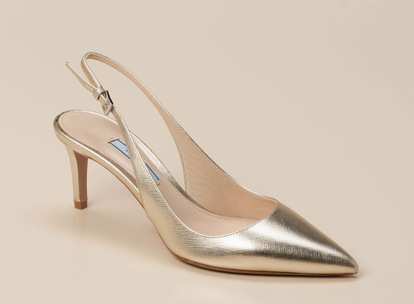 e79171d492463 Prada Damen Slingpumps in gold kaufen