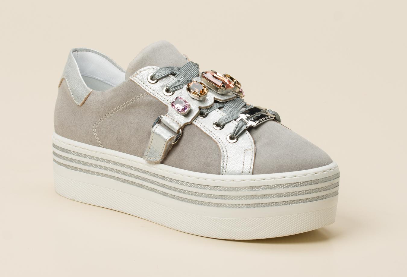 Andrea Puccini Damen Sneaker in grau kaufen | Zumnorde Online Shop