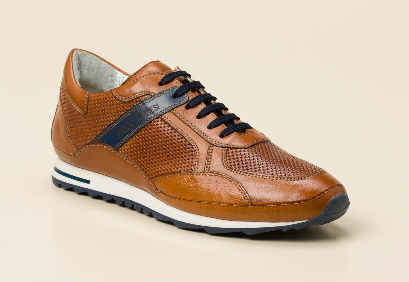 a271b81f56bc0e Galizio Torresi Herren Sneaker in cognac kaufen