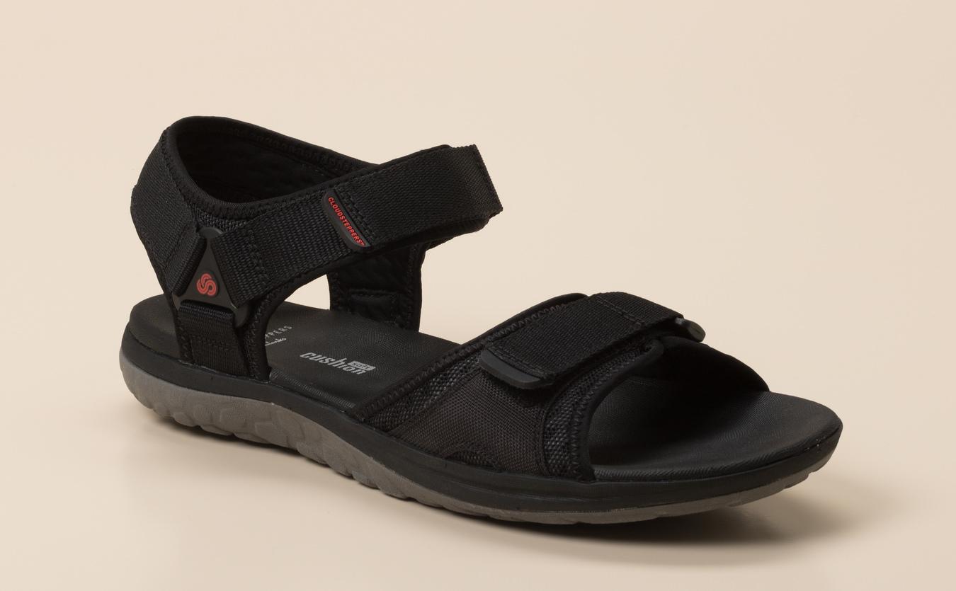 clarks sandalen herren schwarz 44