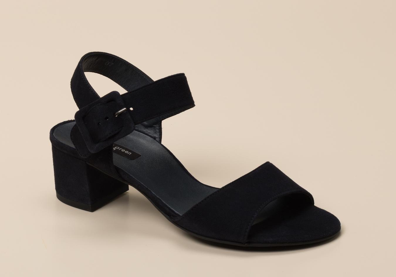 damen sandaletten festlich dunkelblau