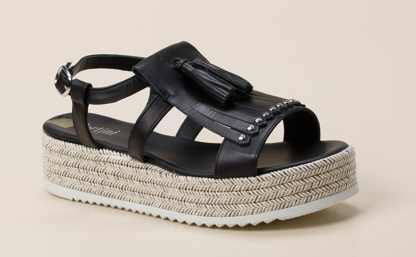 acda83596d2e1 Pertini Damen Keilsandalette in schwarz kaufen | Zumnorde Online-Shop
