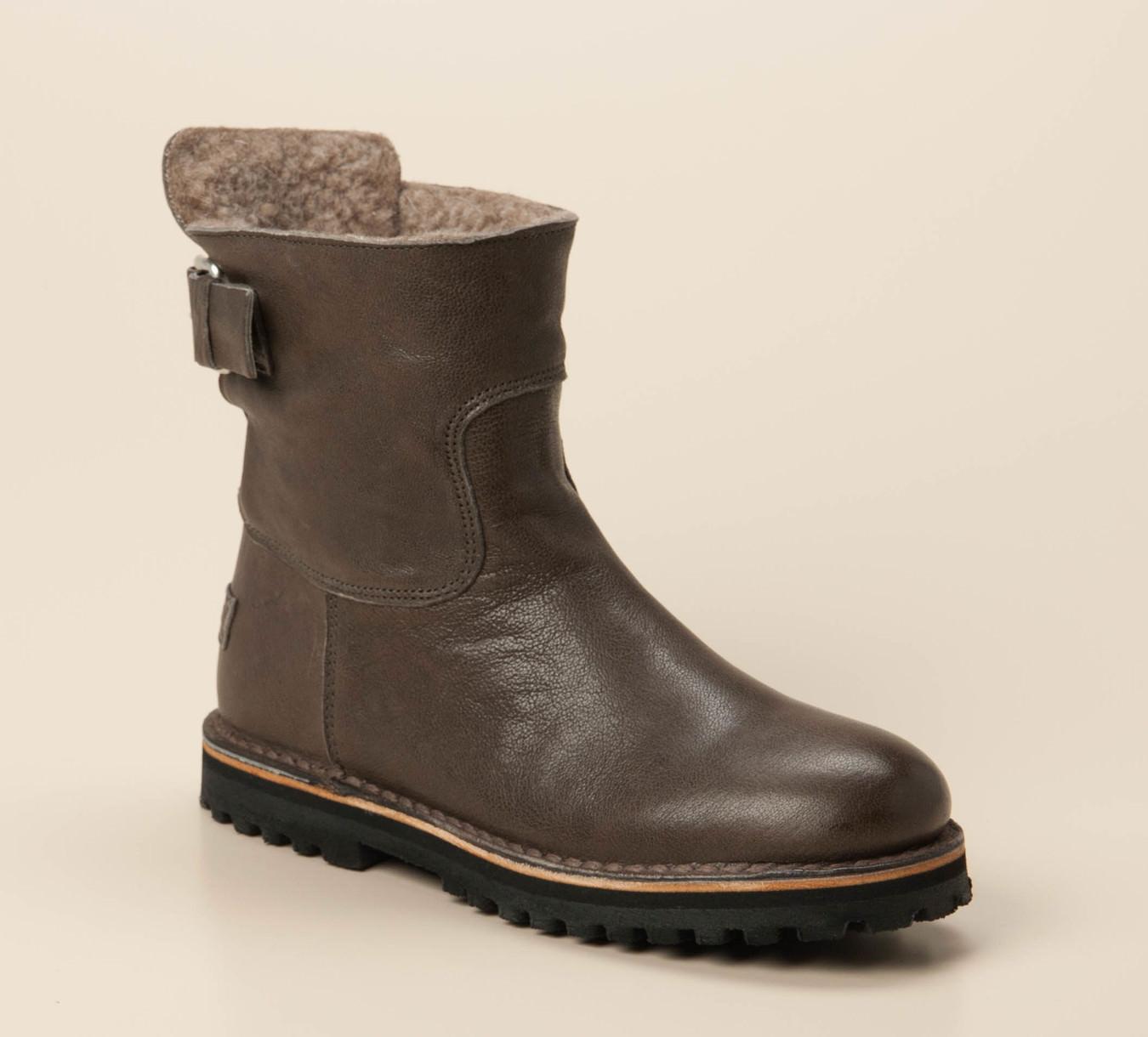 Neu SHABBIES AMSTERDAM STIEFELETTEN Stiefel Boots Grau NEU