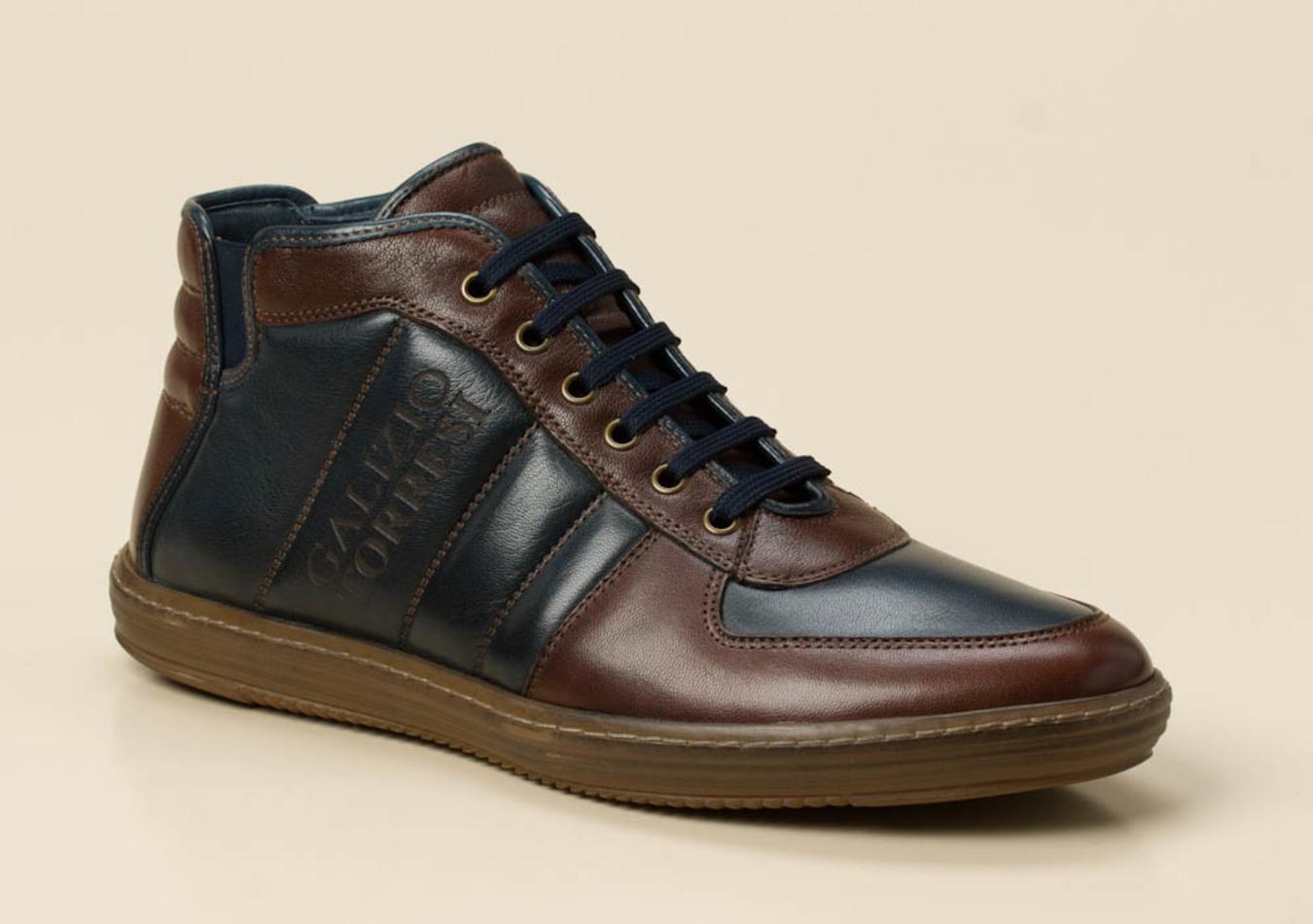 e37d13a6bc7a20 Galizio Torresi Herren Sneaker in blau braun kaufen