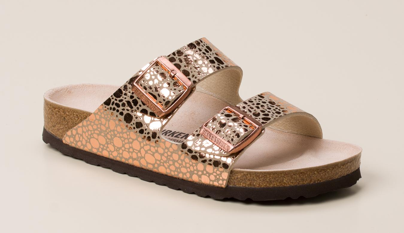 26e6571c9b715 Birkenstock Damen Pantolette Arizona in braun-rot kaufen | Zumnorde ...