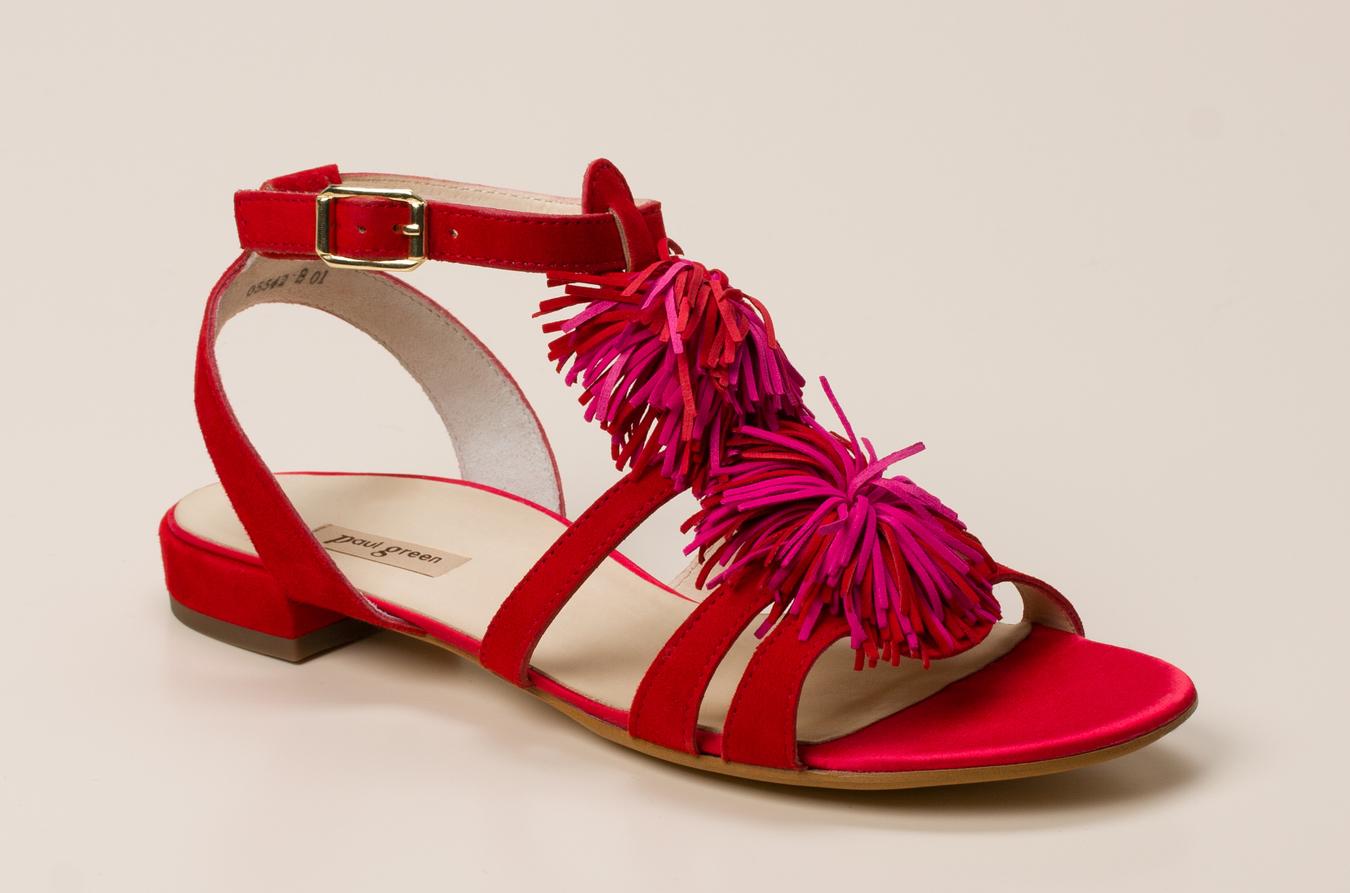 d09f1cf7337585 Paul Green Damen Sandale in rot kaufen