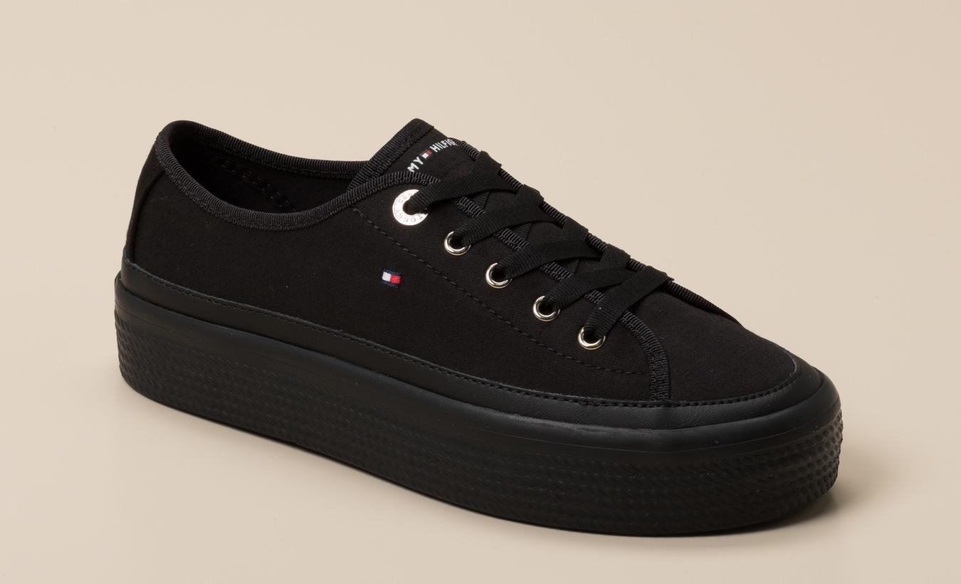 online retailer 93d09 bb6ed Tommy Hilfiger Damen Sneaker in schwarz kaufen | Zumnorde Online-Shop