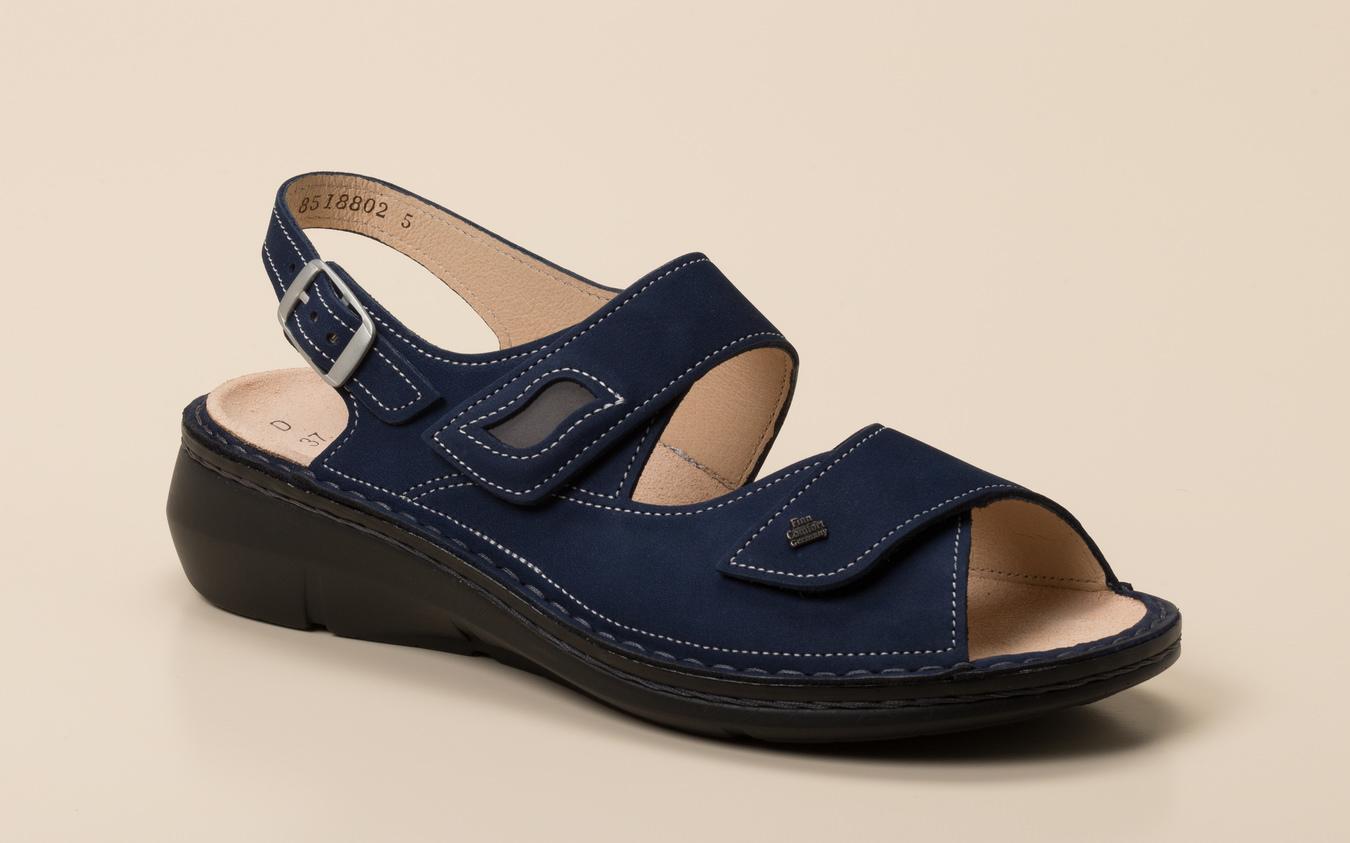 d125331b936d5e Finn Comfort Damen Sandalette in dunkelblau kaufen