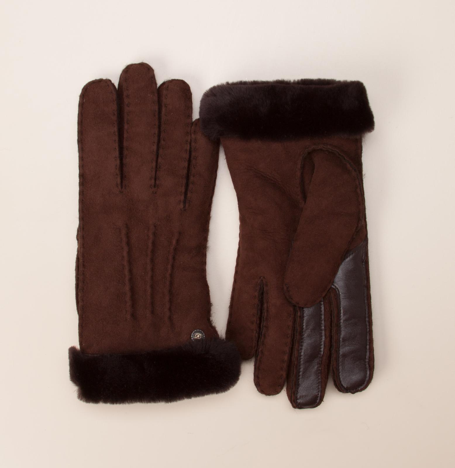 ugg damen acces damen handschuhe in dunkelbraun kaufen zumnorde online shop. Black Bedroom Furniture Sets. Home Design Ideas
