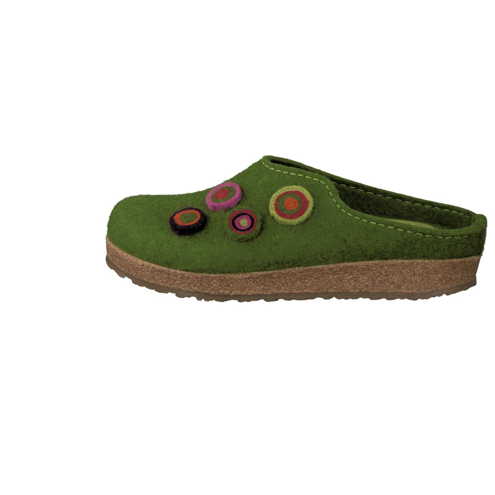 Haflinger Damen Hausschuh in grün kaufen   Zumnorde Online-Shop 51cf9b7d95