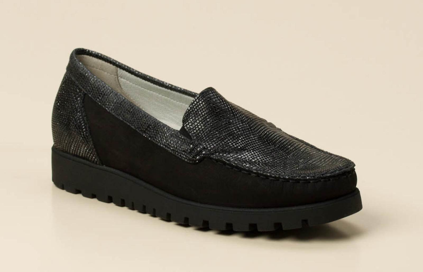 657d5388c33a Waldläufer Damen Slipper in schwarz grau kaufen   Zumnorde Online-Shop