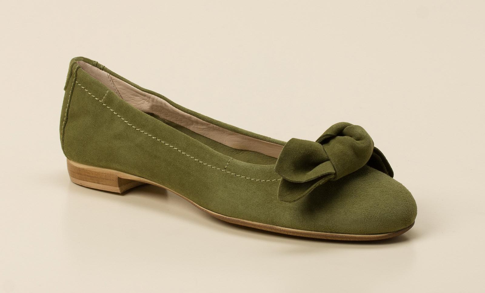 Donna Carolina Damen Ballerina in khaki oliv kaufen   Zumnorde ... 1749f123be