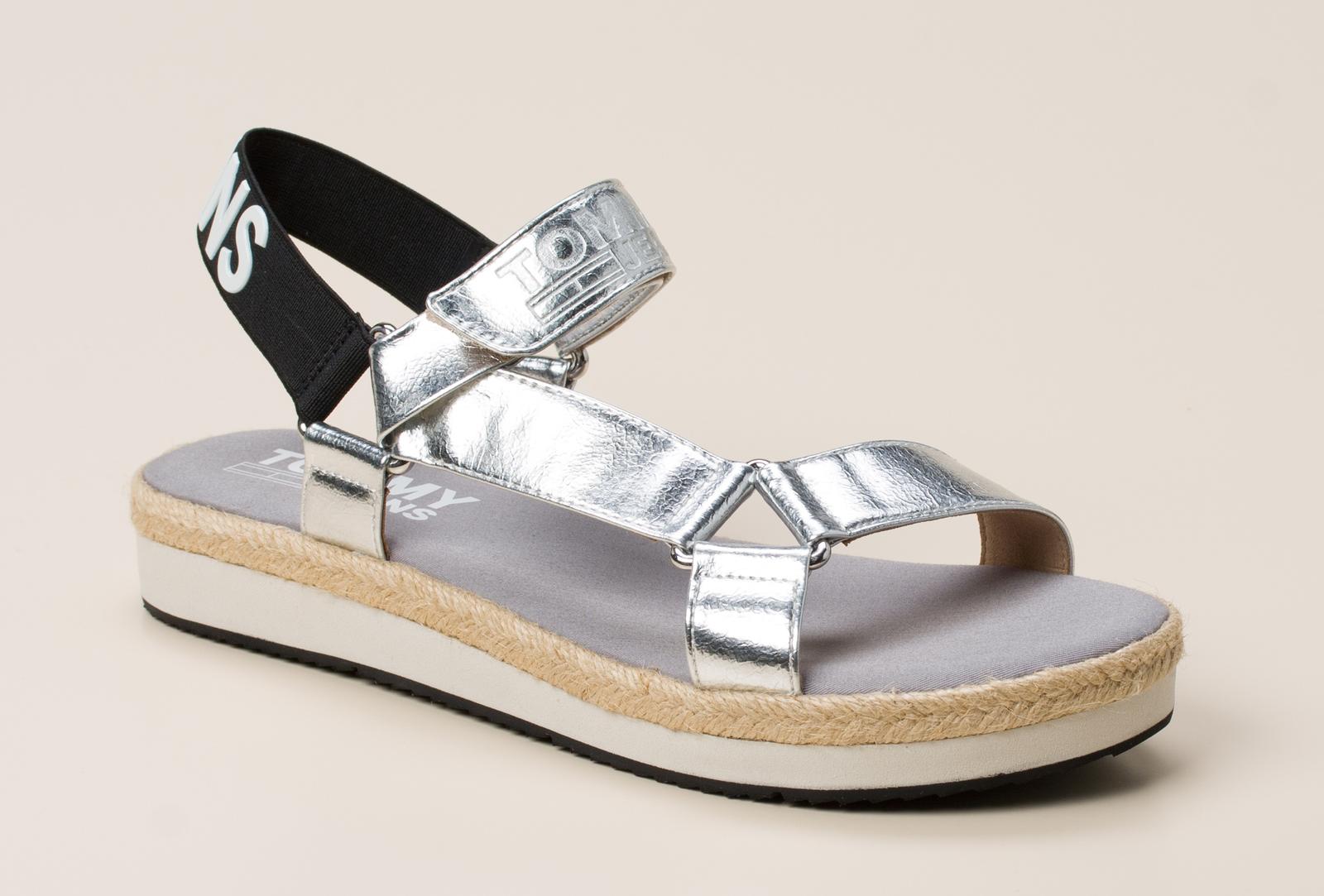 f0e235b552c0 Tommy Hilfiger Damen Sandale in silber kaufen   Zumnorde Online-Shop
