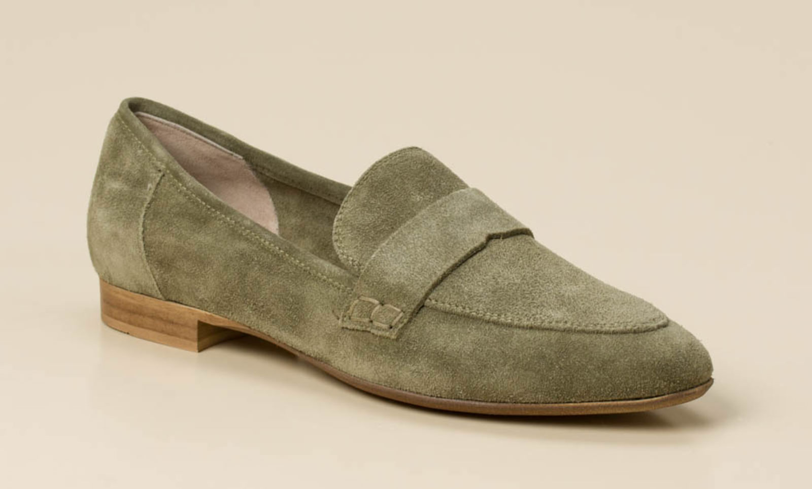 Donna Carolina Damen Slipper in khaki oliv kaufen   Zumnorde Online-Shop 59696cd8ed