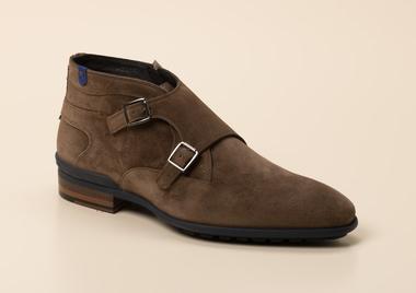 Details zu FLORIS VAN BOMMEL Boots Herren Stiefel Schnürstiefelette Schuhe Braun Gr.41 NEU