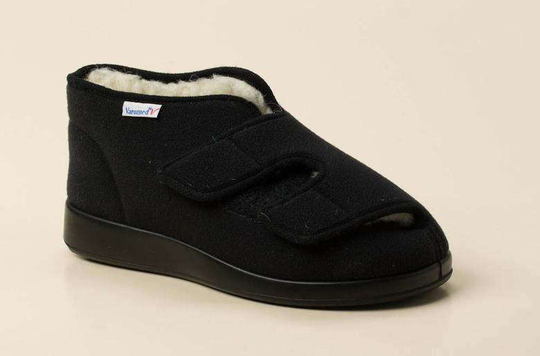 Florett Klettschuh mit PU-Sohle, schwarz, schwarz