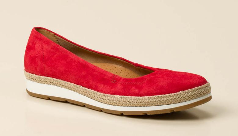gabor comfort damen ballerina in rot kaufen zumnorde. Black Bedroom Furniture Sets. Home Design Ideas