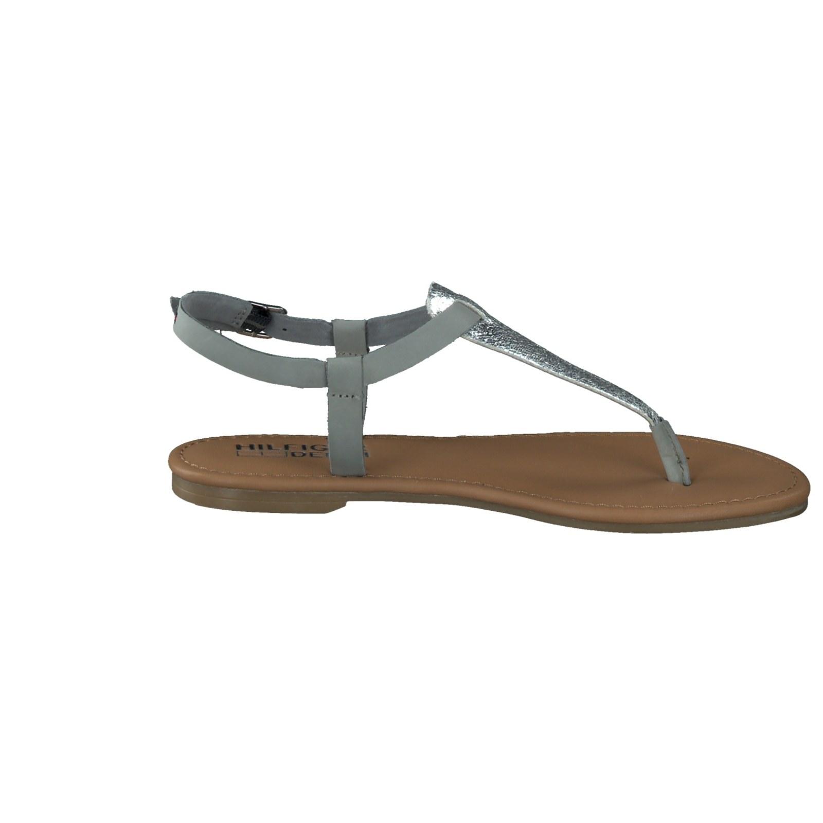 tommy hilfiger damen zehentrenner sandale in grau kaufen. Black Bedroom Furniture Sets. Home Design Ideas