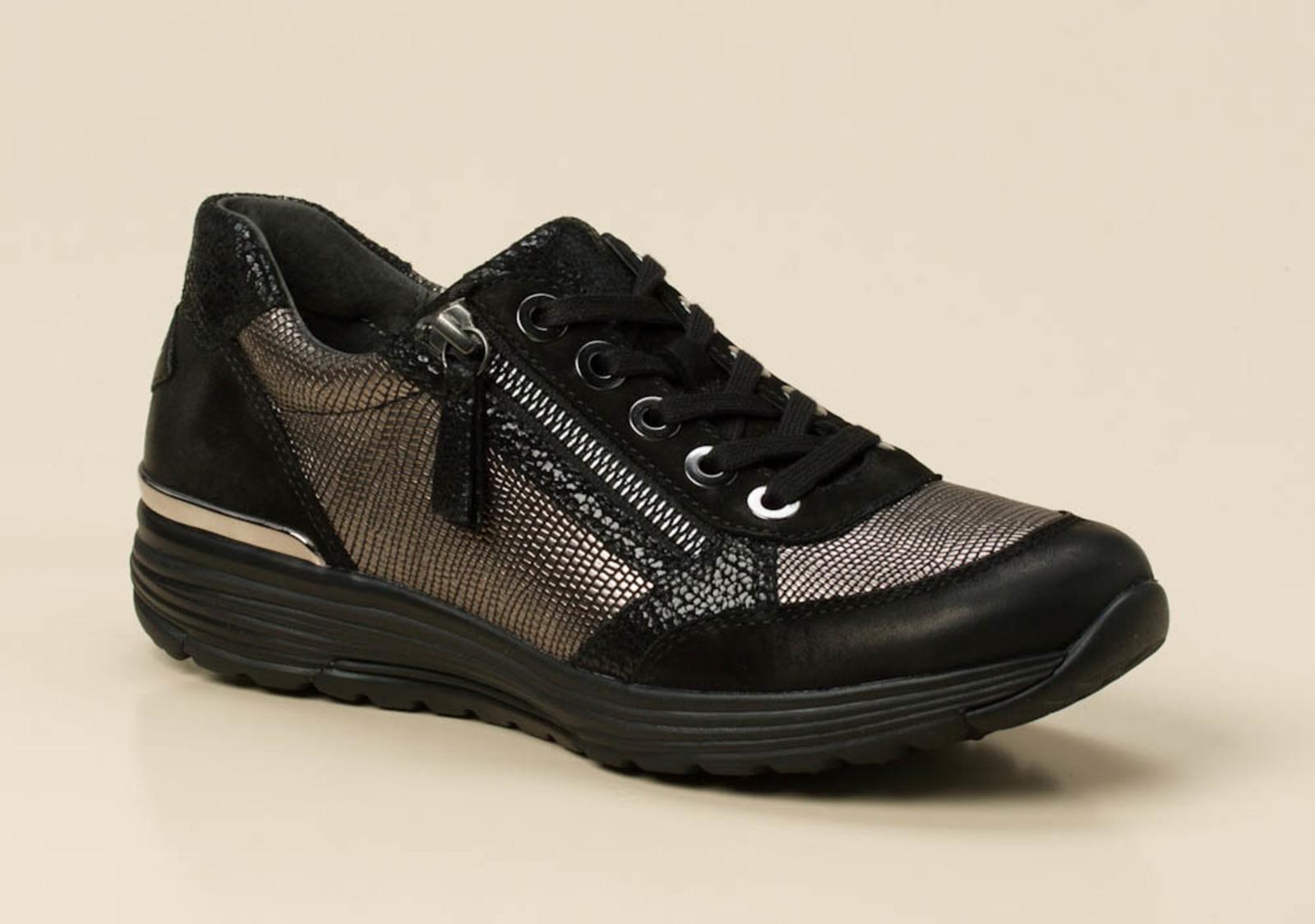 gabor comfort damen sneaker in schwarz grau kaufen zumnorde online shop. Black Bedroom Furniture Sets. Home Design Ideas