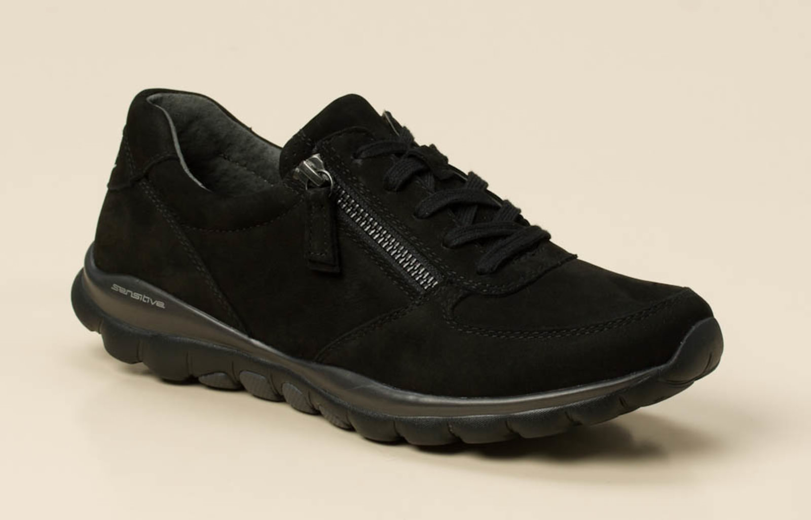 gabor comfort damen sneaker in schwarz kaufen zumnorde online shop. Black Bedroom Furniture Sets. Home Design Ideas